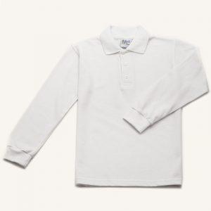 Polo manga larga para uniforme