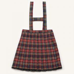 Falda uniforme cuadros burdeos