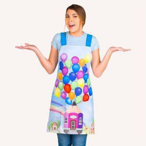 Estola de maestras estampado globos de colores imagen frontal 2