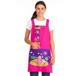 Estola de profesores estampado caracol rosa imagen bolsillo