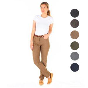 Pantalón para camareras en vaquero de colores 7032